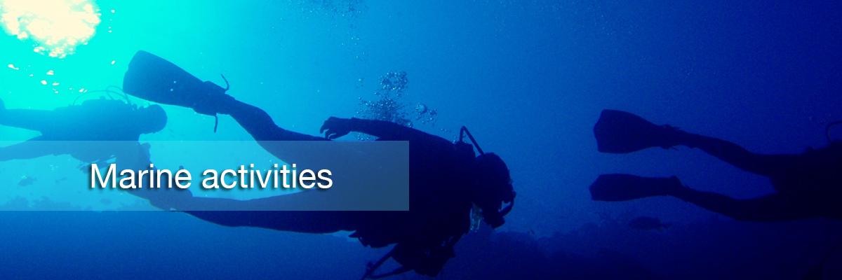 Boracay scuba,Marine activities
