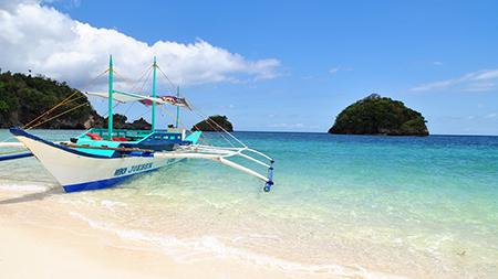 Sail boat,Boracay, Philippines