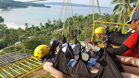 Zip line,Boracay, Philippines